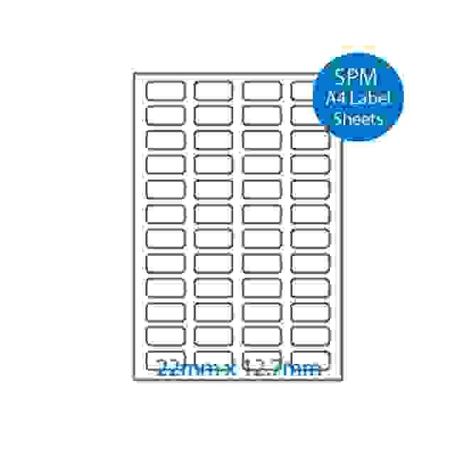 A4 Labels – Paper Sheets 22mm x 12.7mm